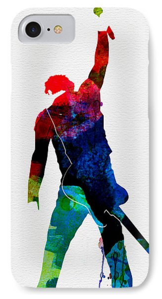Musicians iPhone 8 Case - Bruce Watercolor by Naxart Studio
