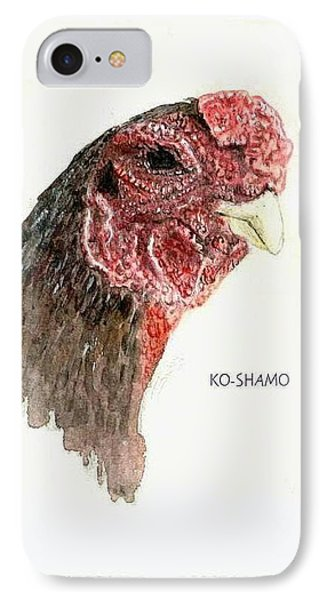Bruno The Ko Shamo Rooster IPhone Case