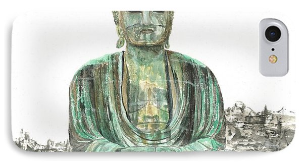 Buddha Of Kamakura Statue IPhone Case