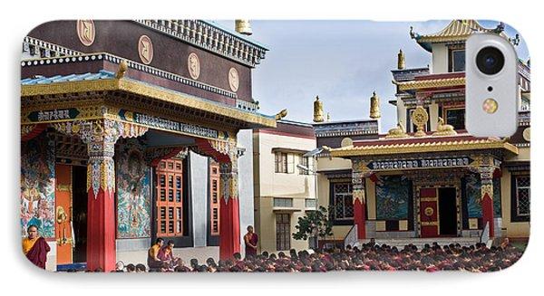Buddhist Monastery In Full Attendance IPhone Case