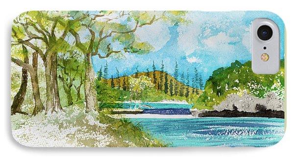 Bugny Trees At Kanumera Bay, Ile Des Pins IPhone Case