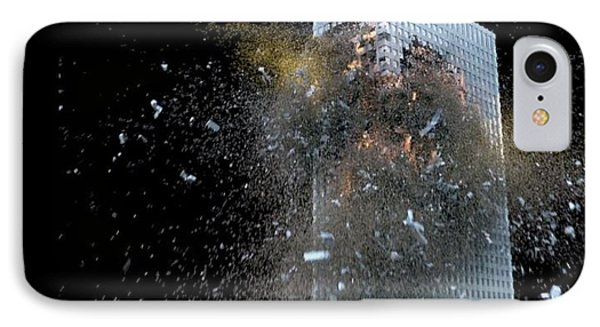 IPhone Case featuring the digital art Building_explosion by Marcia Kelly