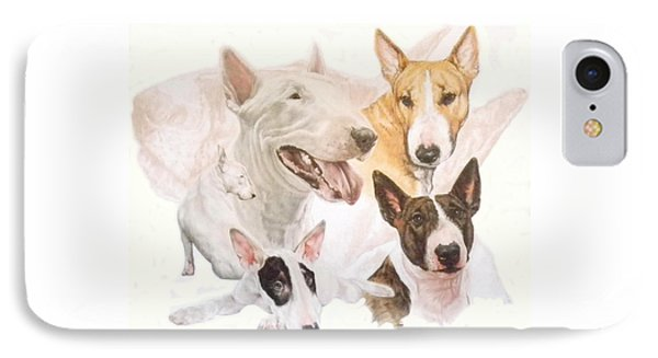Bull Terrier W/ghost IPhone Case