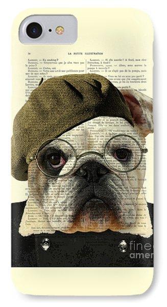 Bulldog Portrait, Animals In Clothes IPhone Case