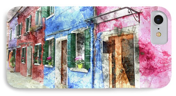 Burano Italy Buildings IPhone Case
