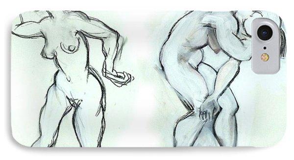 Butoh Dancers - Nudes IPhone Case
