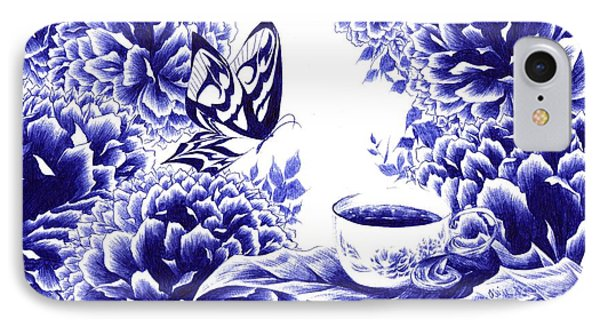 Butterfly Teatime IPhone Case