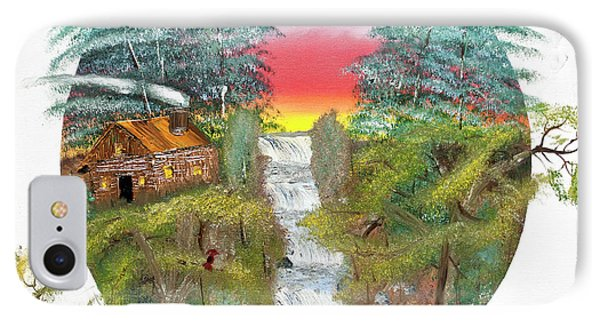 Cabin By The Falls IPhone Case