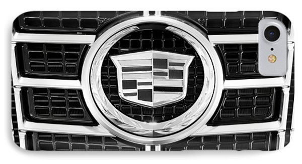 Cadillac Emblem Front Bw IPhone Case