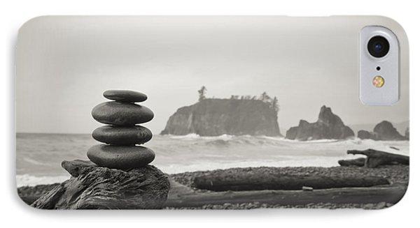 Cairn On A Beach IPhone Case