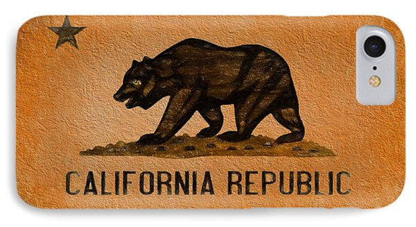 California Grunge Flag IPhone Case