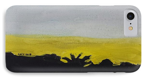 IPhone Case featuring the painting California Sunset  by Epic Luis Art
