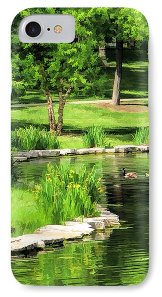 IPhone Case featuring the painting Calm Lake Ellyn by Christopher Arndt