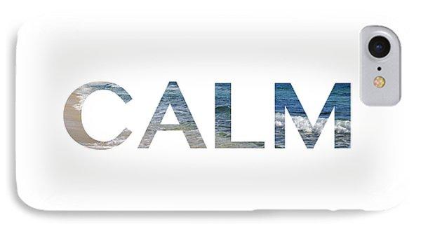 Calm Letter Art IPhone Case