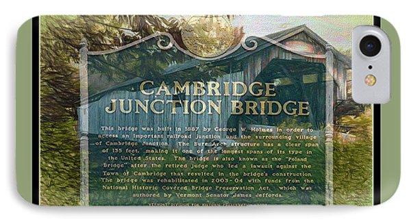 Cambridge Jct. Bridge History IPhone Case