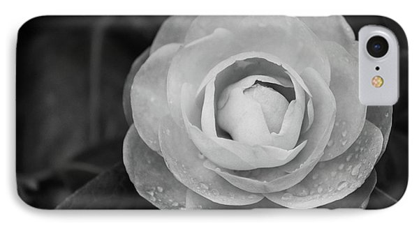 Camellia Black And White IPhone Case