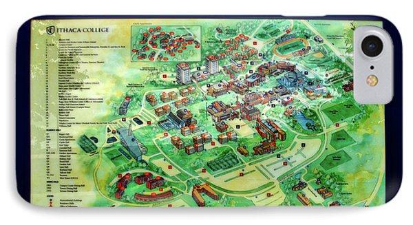 Campus Map Ithaca College.Campus Map Iphone 8 Cases Fine Art America
