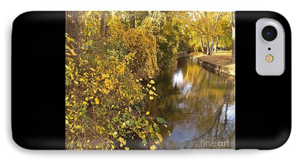 Canal Autumn           Kamm Island       Indiana IPhone Case