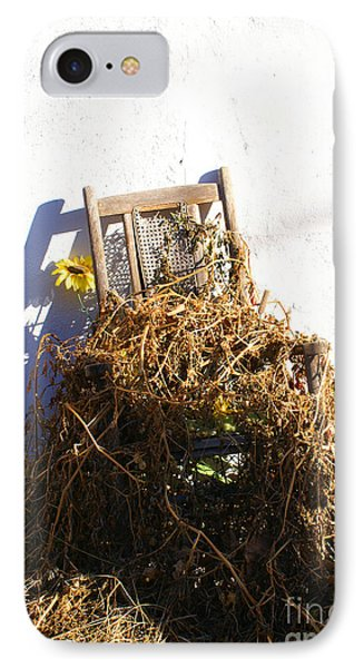 Cane Back Chair And Sunflower IPhone Case