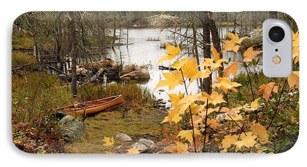 Canoe At Little Bass Lake IPhone Case