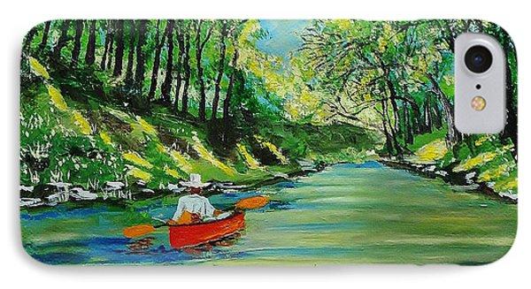 Canoe Cruising IPhone Case