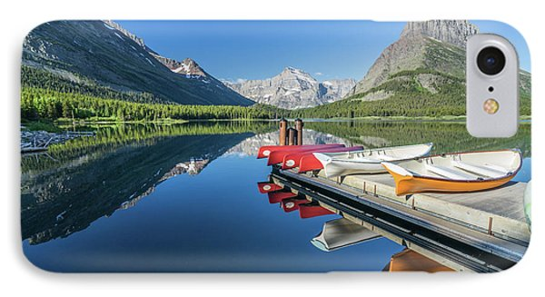 Canoe Reflections IPhone Case