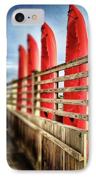 Canoes And Walkway, Surf City, North Carolina IPhone Case