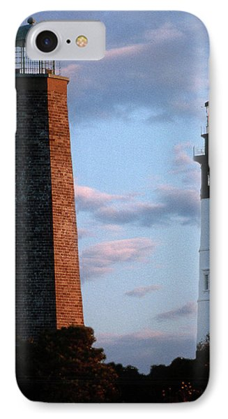 Cape Henry Lighthouses In Virginia IPhone Case
