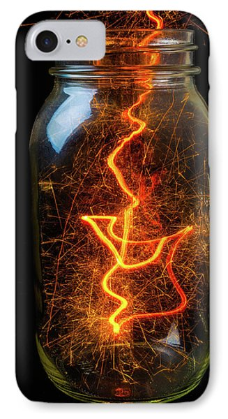 Captured Energy In A Jar IPhone Case