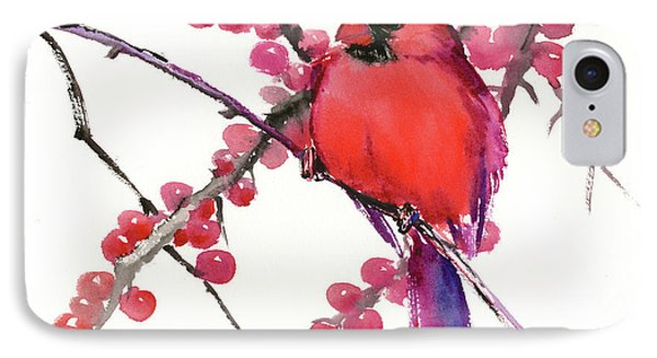 Cardinal And Berries IPhone Case