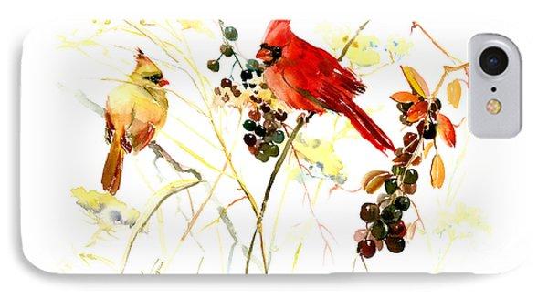 Cardinal Birds And Berries IPhone Case