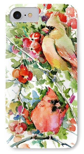 Cardinal Birds And Hawthorn IPhone Case