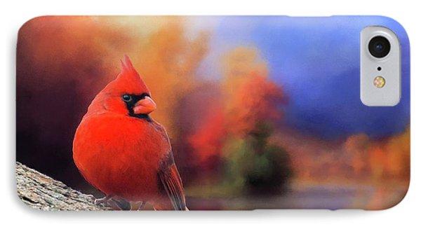 Cardinal In Autumn IPhone Case
