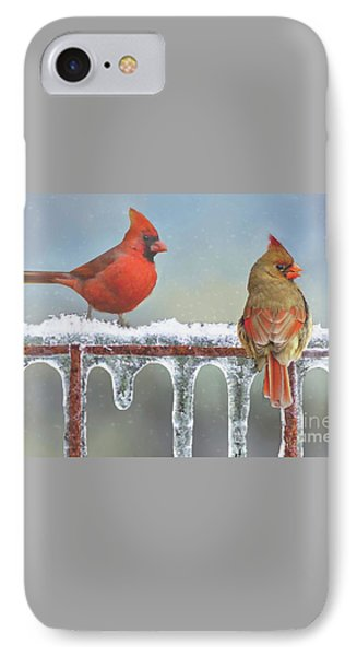 Cardinals And Icicles IPhone Case