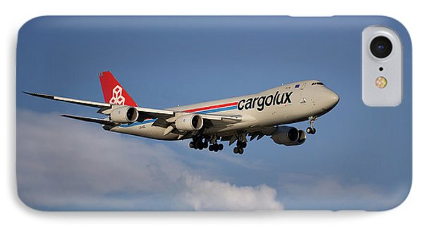 Jet iPhone 8 Case - Cargolux Boeing 747-8r7 4 by Smart Aviation
