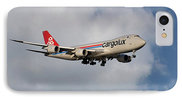 Jet iPhone 8 Case - Cargolux Boeing 747-8r7 5 by Smart Aviation