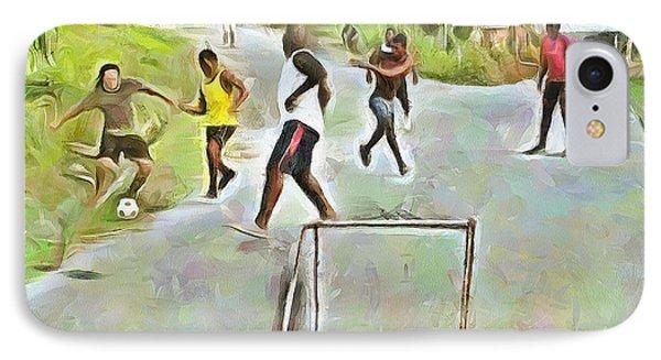 Caribbean Scenes - Small Goal In De Street IPhone Case