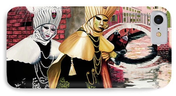 Carnevale Venezia - Prints From Original Oil Painting IPhone Case