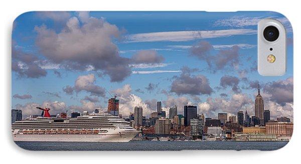 Carnival Cruise Splendor Waterfront Hoboken Nj IPhone Case