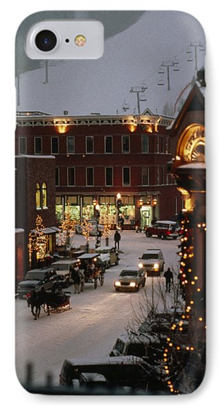 Carriage And Slded On Snowy Steets IPhone Case