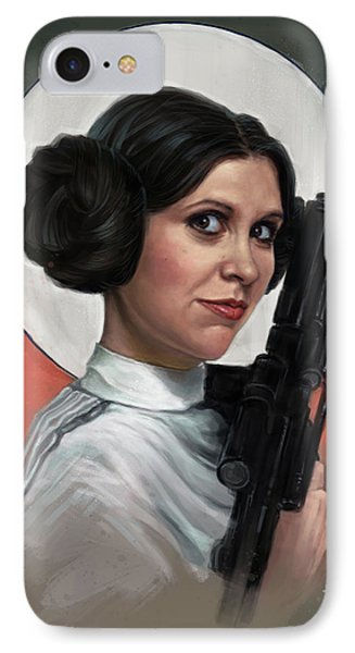 Tribute iPhone 8 Case - Carrie Fisher by Andre Koekemoer