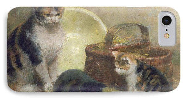 Cat And Kittens IPhone Case
