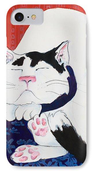 Cat I - Asleep IPhone Case