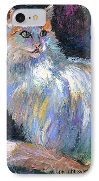 Cat In A Sun Painting By Svetlana IPhone Case