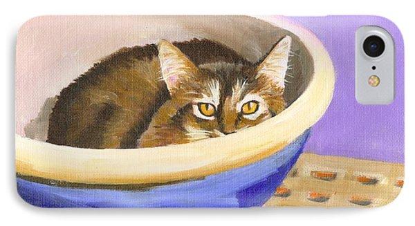 Cat In Bowl IPhone Case