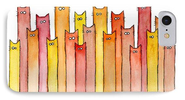 Cat iPhone 8 Case - Cats Autumn Colors by Olga Shvartsur
