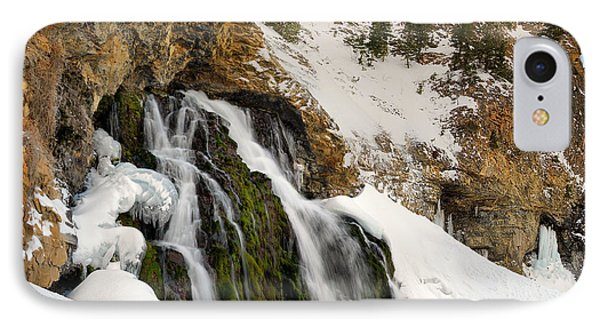 Cedar Creek Falls Winter IPhone Case