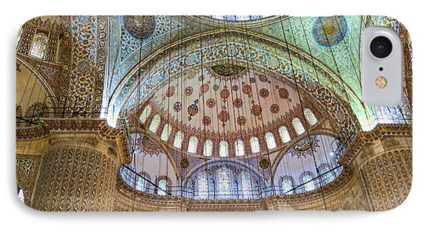 Ceiling Of Blue Mosque IPhone Case