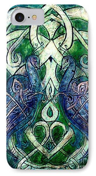 Celtic Peacocks IPhone Case