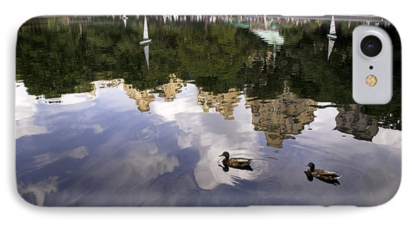 Central Park Pond With Two Ducks IPhone Case